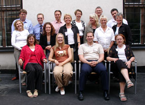 Participants in the Four Rooms of Change training (Click to enlarge)
